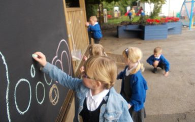 New fun features in EYFS outdoors