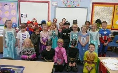 Children in Need Day in the Robins