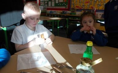 Shrove Tuesday fun in Robins and Owls.
