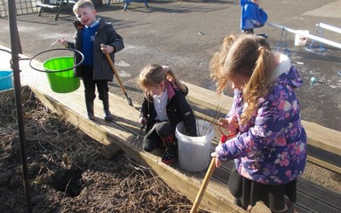 And the forecast is for … outdoor learning!