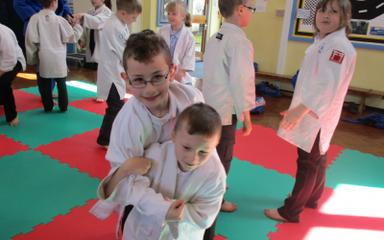 Judo Taster in the Bluebells