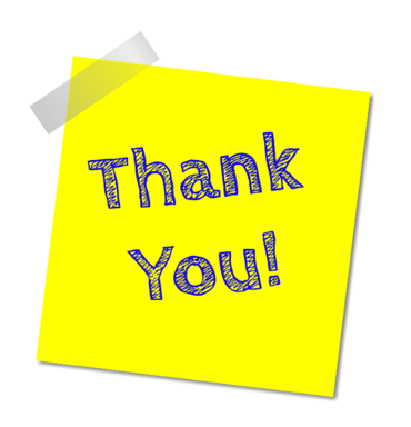 Thank you from the PTFA