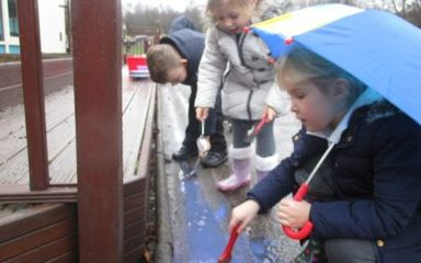A rainy day won't stop our outdoor play!