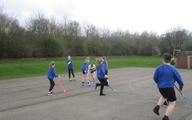 Practising hockey skills