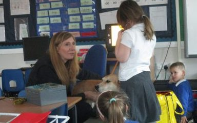 A special visit from the Dogs Trust