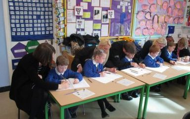 Owls Invite in parents for a 3 Aims Maths lesson