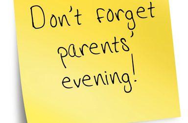Parents evening Mon, Tues , Thurs