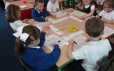 Working hard on our counting and formation