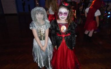 Happy times at the Halloween disco!