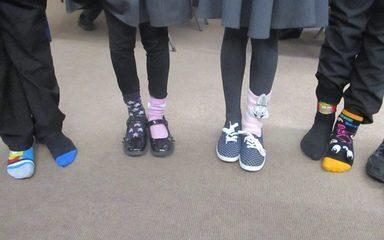 Odd Socks Day in the Beeches