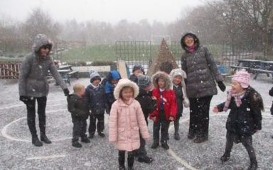 Learning about Ice and Snow in Reception