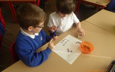 Sharing smarties in Year 2!