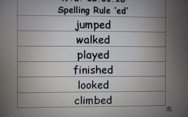 Owls spellings w.e. 12.01.18
