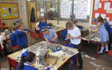 Rainforest Dioramas Stage 1: Paper Mache
