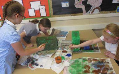 Rainforest Dioramas Stage 2: Paint