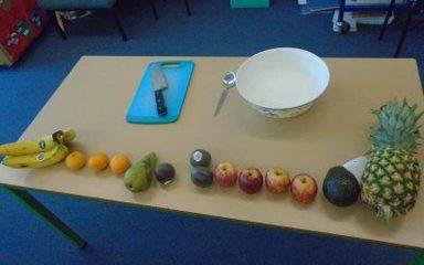 Instructions for fruit salad