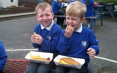 Fish and chips – Seaside fun continues.