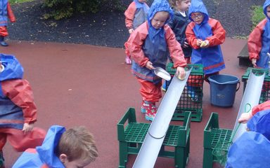 Forest School fun in the rain!
