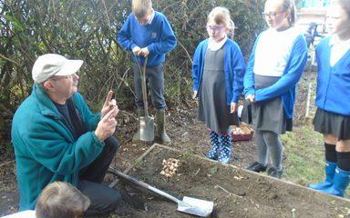 Gardening Club get planting!