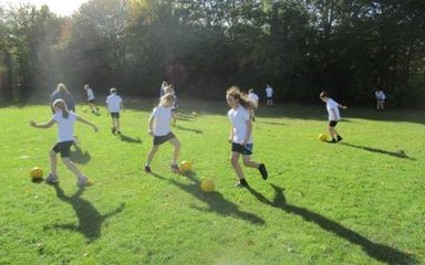 Football skills in the Beeches