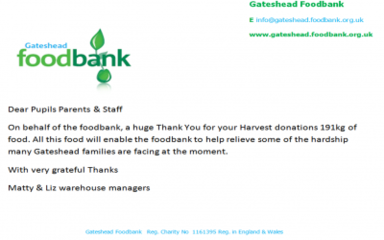 Thank you for your Food Bank Donations!
