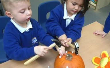 Halloween fun in Nursery.