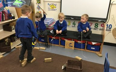 It's not a stick! It's a fishing rod!
