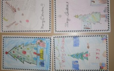 Christmas Cards in Snowdrops