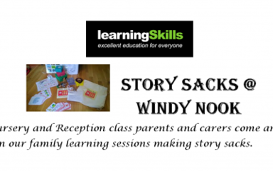 Remember to sign up to Story Sacks family learning