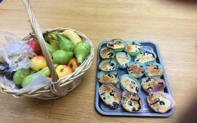 Fruity blueberry muffins!