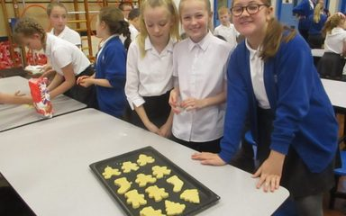 Christmas Biscuits in Year 5 and 6