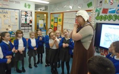 Nightingales in training to become knights!