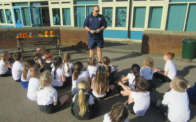Cricket Coach Visits Robins