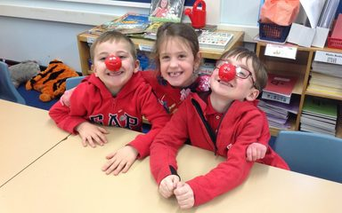 Owls join in with Red Nose Day fun