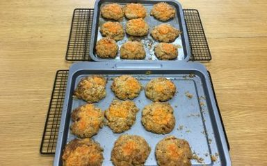 Wholemeal cheese scones with sun dried tomatoes and thyme