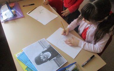 Art in the style of Roy Lichtenstein