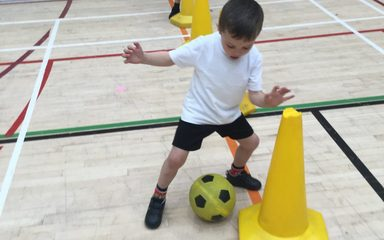 Multiskills with some of the reception children