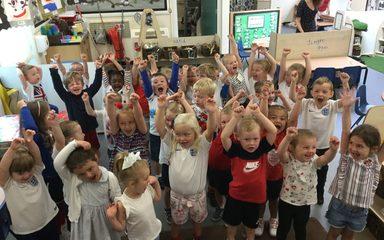 World games day in nursery!