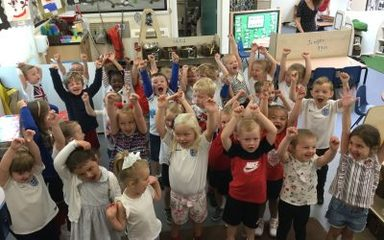 World games day in nursery!