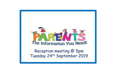 Reception Parent Meeting
